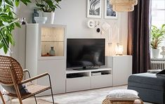 Excellent Cost-Free TV cabinets - IKEA Popular Purchasing a well-designed sof. Excellent Cost-Free TV cabinets - IKEA Popular Purchasing a well-designed sofa is really a huge choice and not merely o Tv Stand With Glass Shelves, Wall Tv Stand, Tv Stand Shelves, Shabby Chic Bedroom Furniture, Lounge Furniture, Living Furniture, Modern Furniture, Living Room Storage, Living Room Tv