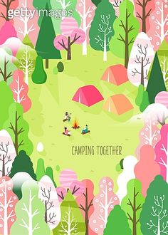 Spring camping and traveling Graphic Wallpaper, Unique Wallpaper, Iphone Wallpaper, Art Drawings For Kids, Art For Kids, Find My Pet, Stone Crafts, Illustrations And Posters, Life Drawing