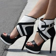 Open Toe Platform Stiletto Heels