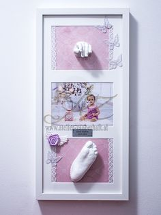 Handabdruck, Fußabdruck aus Gips 3d, Frame, Baby, Home Decor, Atelier, Hand Prints, Gypsum, Picture Frame, Decoration Home