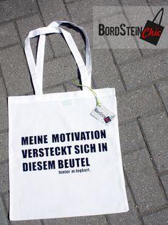 Jutebeutel Motivation // tote bag by Bord-Stein-Chic via dawanda.com
