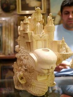 """This actually a Meerschaum pipe - carved from a block of Meerschaum stone, weighs about 15 pounds. Stoners seeing this are now saying """"Whoaaaahhhhhh......"""" and would be salivating if their mouths weren't so dry."""
