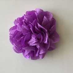 """ONE 3""""  Large Purple Eyelet Fabric Flower-Applique-hairbow supplies-diy wedding-crafts-scrapbook-headband supplies-wholesale Flowers-Bulk by BBBSupply on Etsy"""