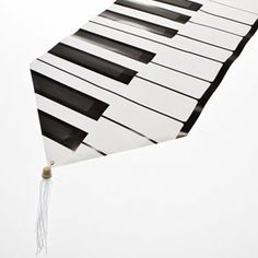 Piano Keys Table Runner by Century Novelty. $3.95.