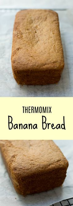 What better way to use up over ripe bananas than with this Thermomix Banana Bread. Moist and squishy it tastes delicious toast and with lashings of butter. Thermomix Bread, Overripe Bananas, Banana Bread Recipes, Deli, Sweet Recipes, Food To Make, Toast, Rolls, Easy Meals
