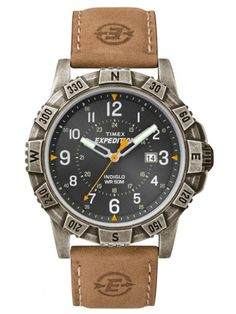 Shop for Timex Men's Expedition Rugged Metal Field Black Dial Tan Leather Strap Watch. Get free delivery On EVERYTHING* Overstock - Your Online Watches Store! Field Watches, Sport Watches, Watches For Men, Brown Leather Strap Watch, Tan Leather, Timex Indiglo, Timex Expedition, Walmart, Timex Watches