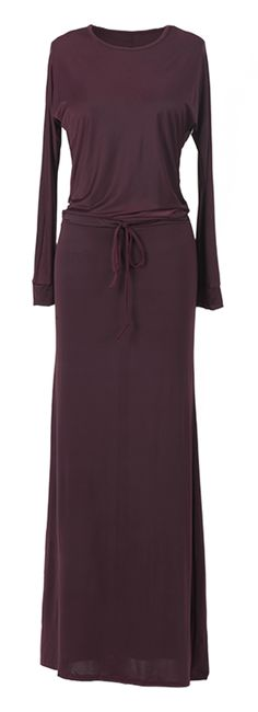 Is a very safe bet that you will look amazing in this long dress! The soft color is perfection for fall! This dress also has an string waist which makes it so flattering!