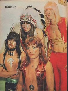 Show just how beautiful Steve red hair is 70s Artists, Sweet Band, Brian Connolly, Glam Rock Bands, 1970s Music, Glam Metal, Sweet Guys, Music Aesthetic, Happy Kids