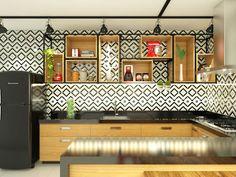 Cozinha Industrial: Cozinhas industriais por Bruna Rodrigues Designer de Interiores