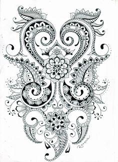 Mehndi flower design by roxyloxy.deviantart.com on @deviantART