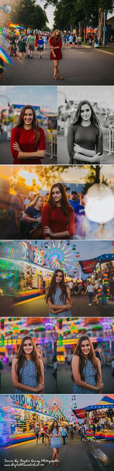 Fun senior pictures >> Senior pictures at the fair. What to wear for girl senior photography. #seniorphotography,