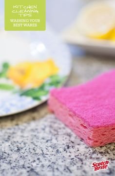 Perfect for touching up your most delicate of dishes, wash your finer wares with warm water and dish soap using the non-scratch Scotch-Brite® Delicate Care Scrub Sponge.