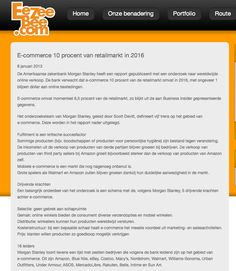 E-commerce 10% van de retailmarkt in 2016
