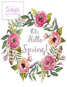 Free Spring Printable Wreath