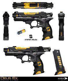 Deus Ex Mankind Divided - Tranquilizer Gun, Bruno Gauthier Leblanc on ArtStation at https://www.artstation.com/artwork/Bzga8