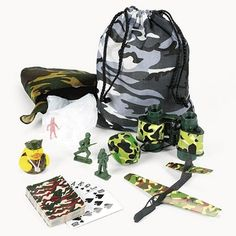 Camouflage Army Party Filled Tote Bags
