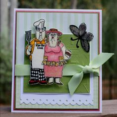BBQ  Couple sold  separately made by Art Impressions Rubber Stamps, items can be purchased in my ebay Store Pat's Rubber Stamps & Scrapbooks or call me 423-357-4334 with  order, or come by 1327 Glenmar Ave. Mt Carmel, TN 37645, Pat's Rubber Stamps & Scrapbook supplies 423-357-4334. We take PayPal. You get free shipping with the phone orders of $30.00 or more