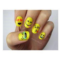 Cute emoji nails!