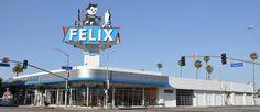 Felix Chevrolet, 3330 S Figueroa St, Los Angeles built 1920, remodeled 1946, sign erected 1958