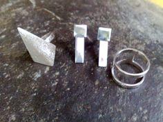 925 sterling silver post earrings and finger rings