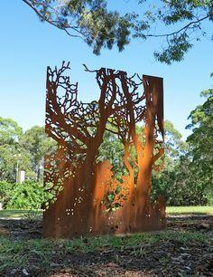 Bridges | corten steel, 150x 120cm | Paul Davies, 2012.