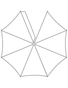 Umbrella Top Template - could use to make 3d umbrella or have half of an umbrella sticking out from back of display case and cover with scrapbook paper?
