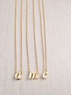 Gold Letter Necklace