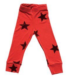 Nununu Red Star Leggings