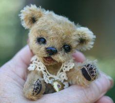 RESERVED NIKI OOAK Artist Made Mohair Teddy Bear Sculpted Face Kimbearlys Originals. $195.00, via Etsy.
