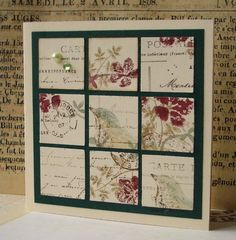 Inchies using a stamped collage that didn't make the cut (great idea)