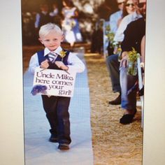 We are so going to have Josh carry this down instead of the normal ring bearer pillow.