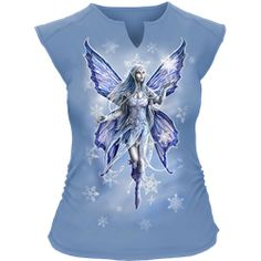 Snow Fairy Womens Sleeveless Shirt - SL-EC101209 by Medieval Collectibles