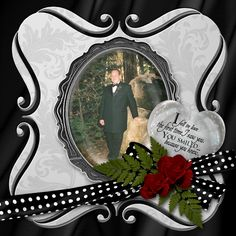 Steve & Jessi's wedding - a page of the digital scrapbook I am creating for them