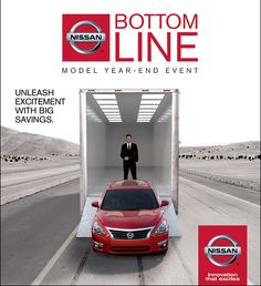 Nissan Bottom Line Model Year-End Event!  Big savings on 2014 models to make room for the 2015's.