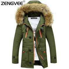 a0fa7a1e501d Men's Winter Jackets Coats Windproof Outwear Wadded Zipper Warm Clothing on  AliExpress College Jacke Herren,
