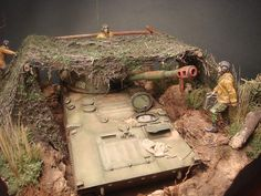 Dioramas and Vignettes: 2S1 «Gvozdika». Tactical exercises, photo #7