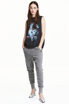 Pantalon en molleton - Gris - FEMME   H&M FR 1