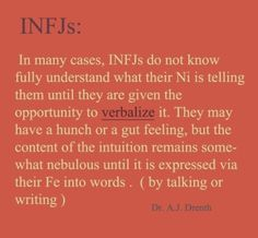 This is the truest thing I have read about INFJ