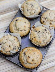 Cinnamon Chocolate Chip Muffins.