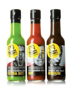 Packaging of the World: Creative Package Design Archive and Gallery: Guzman Y Gomez Packaging Awards, Cool Packaging, Design Packaging, Pepper, Hot Salsa, Label Design, Package Design, Graphic Design, Logo Design
