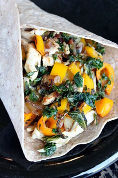 Chicken, Kale and Sweet Pepper Wrap - Lunch