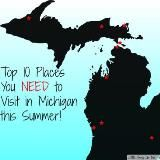 Top 10 Places to Visit in Michigan this Summer. Which of these are your favorite? i love Mackinac Island & the Ren Fest! Michigan Vacations, Michigan Travel, State Of Michigan, Northern Michigan, Lake Michigan, Copper Harbor Michigan, Michigan Water, Traverse City Michigan, Mackinac Island