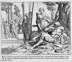 The suitors throw Odysseus scraps  17th century etching  Theodor van Thulden (1606 - 1669)  Fine Arts Museums of San Francisco Pie Grande, Man Beast, Landsknecht, Art Premier, Grimm Fairy Tales, Cryptozoology, Satyr, Grand Palais, National Gallery Of Art