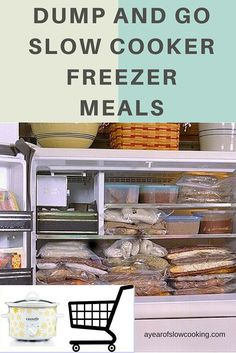 This lists out 30 Recipes you can make in freezer bags. Stock the freezer for an entire month's worth of dump and go meals! Buy your meat in bulk at Costco or Sam's, then… Slow Cooker Freezer Meals, Make Ahead Freezer Meals, Crock Pot Freezer, Dump Meals, Crock Pot Slow Cooker, Slow Cooker Recipes, Crockpot Recipes, Freezer Recipes, Bulk Cooking