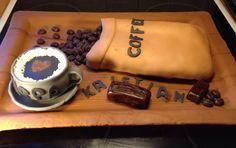 Coffee cup marzipan cake Fondant, Marzipan Cake, Edible Art, Cake Art, Amazing Cakes, Coffee Cups, Cupcakes, Decorations, Chocolate