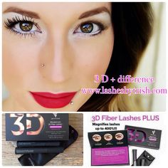 The 3 D + difference. Make your eyes say WOW with this mascara and your own lashes. $29 at www.lashesbytrish.com.