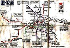 Berliner U-Bahnnetz 1961 (direkt vor dem Mauerbau)