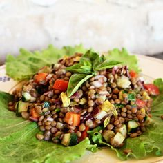 A combination of tender lentils and crisp veggies create a light, healthy dish for those hot summer days.