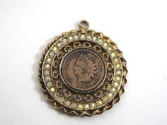 Ladies Vintage Costume Jewelry 1887 Indian Head Cent Penny Pendant for Necklace