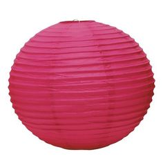 Weddingstar Round Paper Lantern, Large, Fuchsia by Weddingstar Inc.. $5.98. Available in various colors. Available in various sizes. 20-inch diameter. Mix and match the colors and sizes to customize the lanterns to your individual needs. Paper Lanterns only, lights not included. These decorative paper lanterns add an incredible new dimension to any party decor. They are especially stunning when used outdoors but will accent nearly any space. Mix and match the colo...